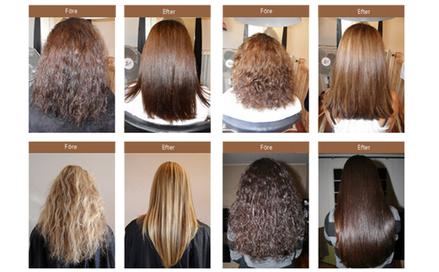 permanent glat hår produkt
